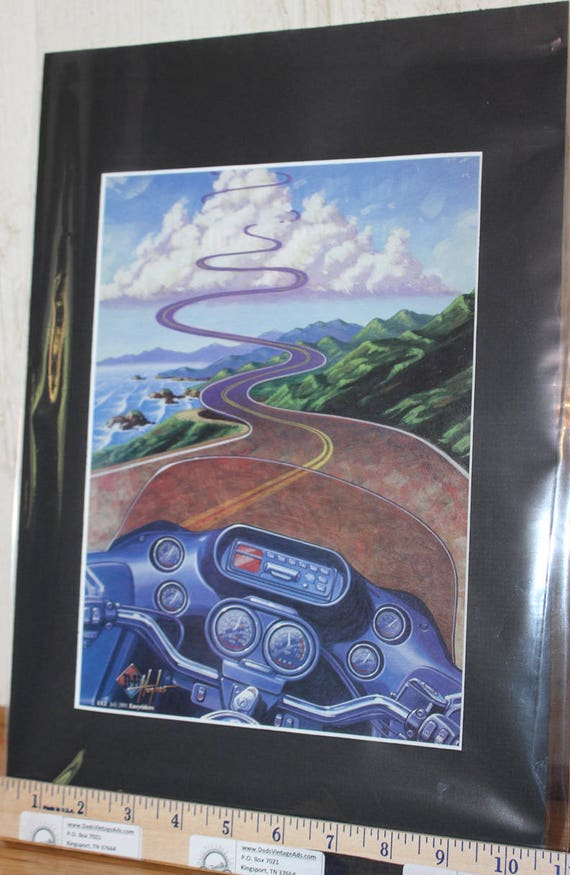 "Easyriders ''Two-Wheeled Vision Quest"" by Hughes Matted Biker Motorcycle Art #0107ezrhum"