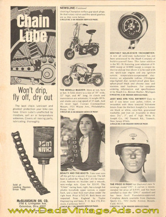 1969 Benelli Buzzer folding mini-bike small newsline Ad #e69aa02