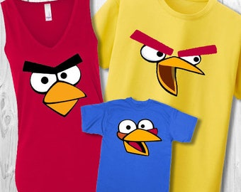 Angry Birds Family t-shirts