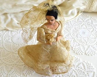 vintage bride doll mexican bride doll wedding doll display doll souvenir doll