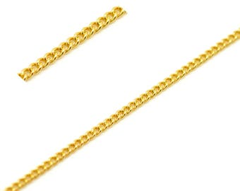Chain 3X2mm Metal Golden by the yard