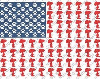 Snoopy Flag SVG