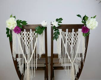 Wedding Macrame Back Chair
