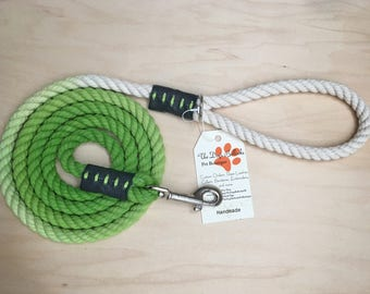 Lime Green Ombré Rope Leash
