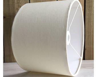 100% Cream Linen  Drum Lampshade Lightshade Ceiling Pendant 25cm 30cm 35cm 40cm 45cm 50cm 60cm 70cm FREE UK SHIPPING