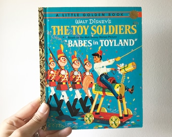 "Vintage 1961 Walt Disney's ""The Toy Soldiers"" Little Golden Book Babes in Toyland -"