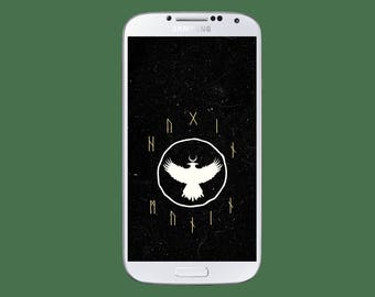 Viking Hugin Munin Android Wallpaper // Android //Hugin Munin // Samsung Galaxy Wallpaper // Screensaver //