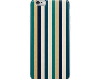 Earth colored iPhone case with organic natural stripes, great for nature lovers