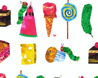 Hungry Caterpillar Eric Carle Snacks - crib sheet/changing pad sheet/boppy pillow cover