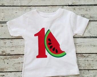 1st birthday watermelon shirt, watermelon shirt, birthday shirt