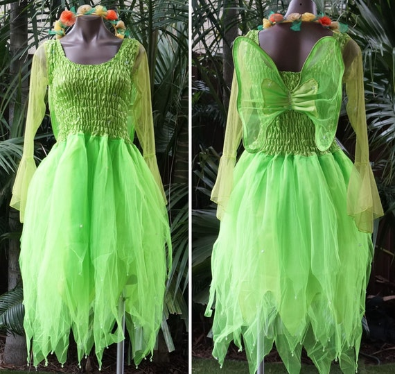 PLUS SIZE Fairy Dress Adult Size Party Costume with Sleeves