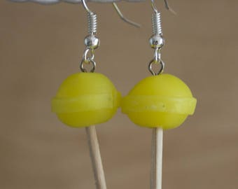 Lollipop lemon earrings