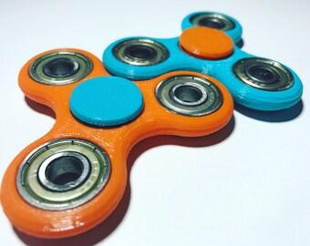 Classic Tri- Spinner Model, 3D Printed Fidget Toy, Fidget Spinner, Finger Spinner, Customized Color