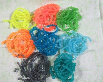 Frosted Glass Round Bead Strand (B226/227295/296)