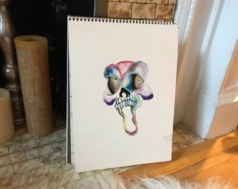 Original Skull Watercolor