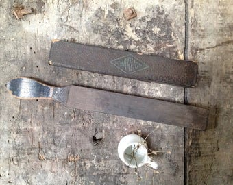 Sharpener blade razor - blade for cutting cabbage - leather edges - leather to sharpen