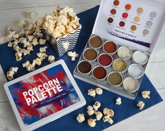 SALE -  Personalised Popcorn Seasoning Collection - Teacher Gift - Popcorn Flavouring - Foodie Gift - Gourmet Popcorn - Gift for Him