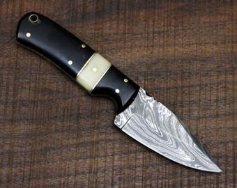 Winchester No. 2 - Fixed blade Damascus Steel Knife Hunting / Camping / Survival