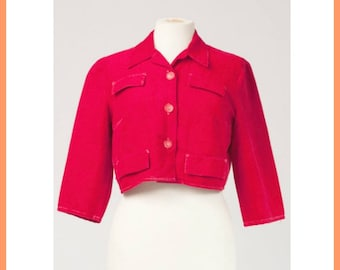 Red Corduroy Little Jacket