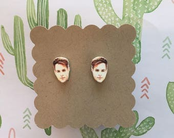 Chris Pine   Stud Earrings