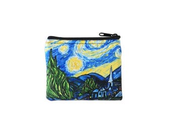 20% OFF SALE Starry Night Coin Bag // Change Purse // Pouch