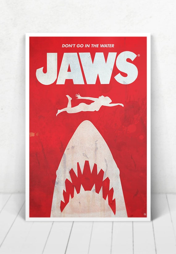Jaws Movie Poster - Illustration / Jaws Movie Poster/ JAWS