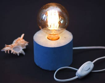 Concrete lamp - Edison lamp - Cylinder lamp
