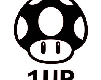 Mario Brothers - 1Up - Decal