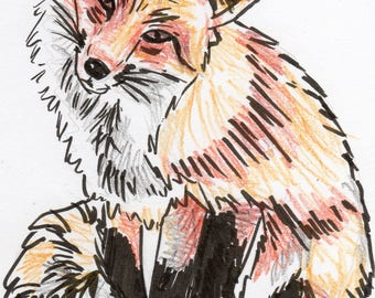 Inktober #2 2017 - Fox [PRINT]