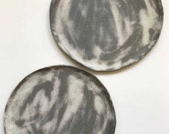 Distressed Stoneware Dinner Plates