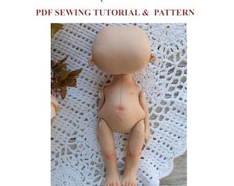 Body doll pattern tutoriall cloth doll pattern doll sewing pattern soft doll pdf rag doll pattern toy sewing pattern stuffed blank doll body