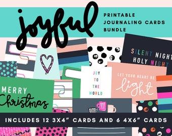Joyful Printable Journaling Card Bundle