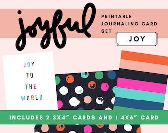 Joyful Printable Journaling Card Set - Joy