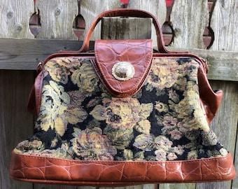 Vintage Maggie Lawrence Tapestry Handbag