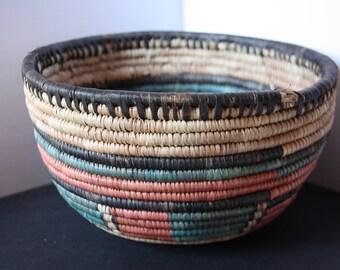 Native American Coiled Basket, Vintage American Indian Basket, Navajo Basket, Coiled Basket, Native America Art