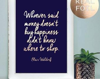 A4 Blair Waldorf Gossip Girl Print   Zitat Inspirierend Zitat   Gossip Girl  Poster   Rose