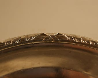 French Sterling 950 Silver Plate Charger Platter Acanthus Leaves Crossed Ribbon Minerva 1 Not Monogrammed 169g E1270