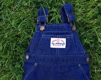 Vintage 70's soft denim overalls size 12 months
