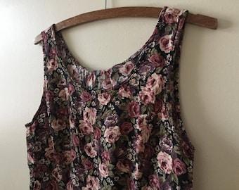Vintage floral roses dress