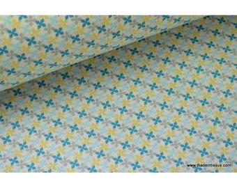 Blue x50cm kebull design printed cotton Poplin fabric
