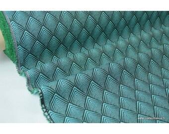 CACHOU Emerald .x 1 m jacquard upholstery fabric