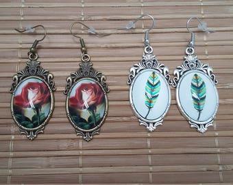 Baroque cabochons earrings