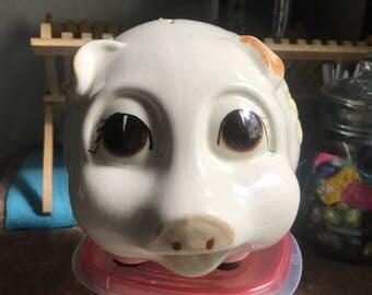 Vintage Large Lefton Piggy Bank