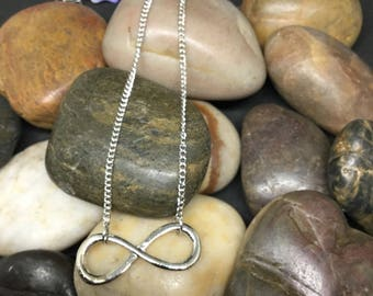 Silver plated infinity  necklace