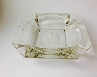 Vintage UN Extra Large Ashtray/United Nations Ashtray/Large Ashtray/Collectible Ashtray