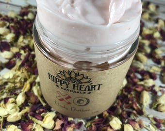 XO Body Butter , Valentines Body Butter , Floral Scented , Warm scented , gift for her , vegan body butter , pink , natural moisturizer,