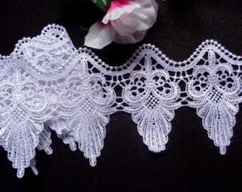 "4"" White Venice Lace Trim - Venise Lace selling by the yard"