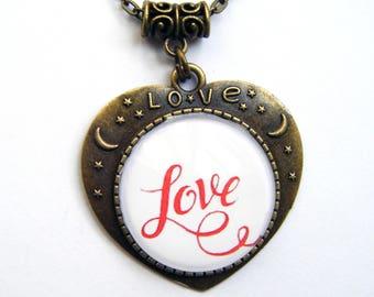 """""""Love"""" Medallion pendant heart"""