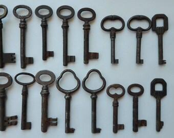 Vintage Skeleton Keys, Antique keys, rustic keys, metal keys, Rustic Wall Art, Old Keys, Farmhouse Antique, Rustic Key