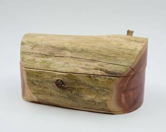 Red Cedar Driftwood Trinket  Box/Beach/Funky/Canadian Made/Jewlery Box/Rustic/Cottage/Home Decor